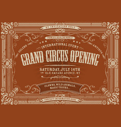 Vintage horizontal circus background vector