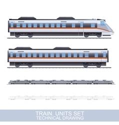 Color Train vector image