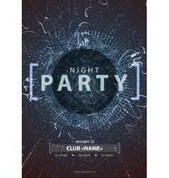 Night disco party poster background vector