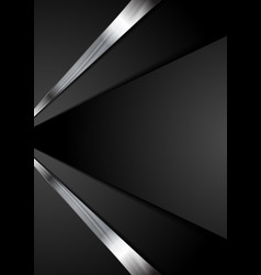 Black corporate tech abstract background vector