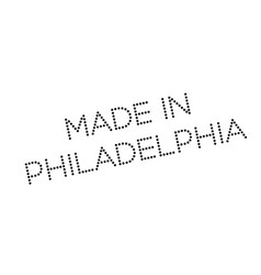 Made in philadelphia rubber stamp vector