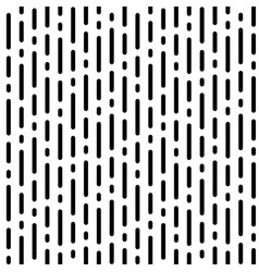stripe pattern with black rounded lines on white vector image
