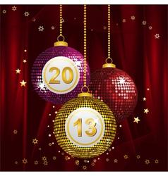 2013 bingo baubles vector image vector image