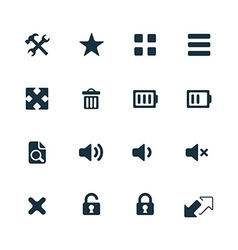 Ui outline for web and mobile icons set vector