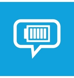 Charged battery message icon vector