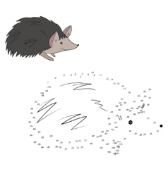 Connect the dots game hedgehog vector