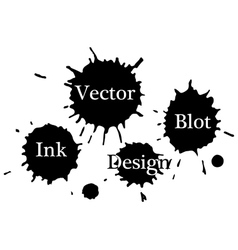 ink blots on a white background vector image