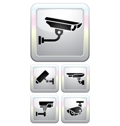CCTV labels video surveillance vector image