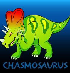 Chasmosaurus cute character dinosaurs vector image