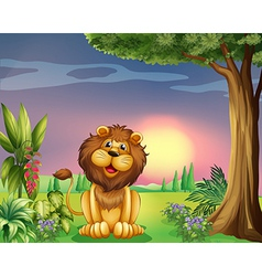A happy face of a lion vector image