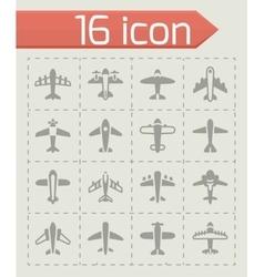 Airplane icon set vector