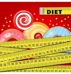 Background with donuts vector