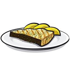Baked fish vector