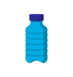 Blue plastic bottle cartoon icon vector image vector image