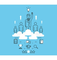 Business people teamwork human resources vector