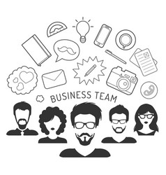 business team management in vector image