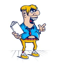 Cartoon hooligan student character vector