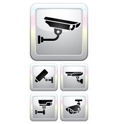 CCTV labels video surveillance vector image vector image