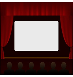 cinema screen with people in the hall vector image
