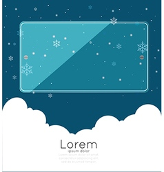 Copyspace with cloudspace and snow vector