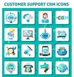 Customer Support Icons Set vector image vector image