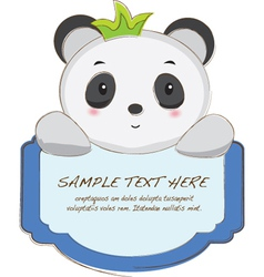 Cute Animal Tab vector image