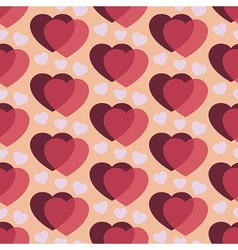 Dark cherry hearts vector image