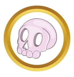 Halloween skull icon vector