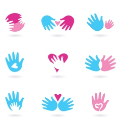 Hands and love vector