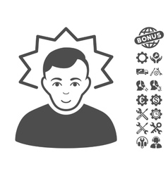 Inventor icon with tools bonus vector