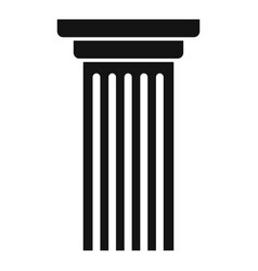 Italian column icon simple style vector