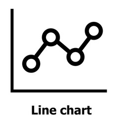 Line chart icon simple style vector