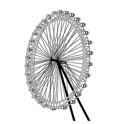 London eye design over white background il vector