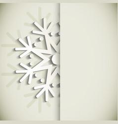 New Year snowflakes greeting card vector image vector image