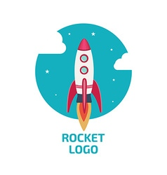 Rocket logo one vector