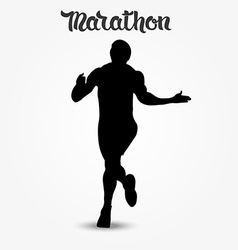 Running man silhouette and hand drawn quote vector image