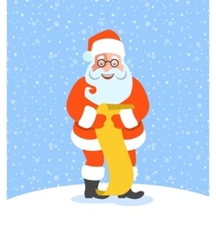 Santa Claus reads Naughty or Nice Kids List vector image vector image
