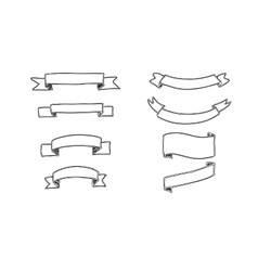 Set of hand-drawn banners vector image vector image
