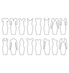 set of woman dresses vector image vector image