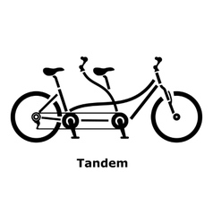 Tandem bicycle icon simple style vector image