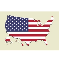 Usa map flag vector