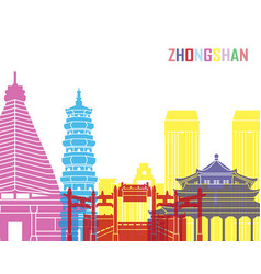Zhongshan skyline pop vector
