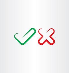 Correct true false yes no check mark icon vector