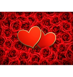 Valentines day background two hearts on background vector