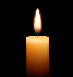 Candle on black background vector
