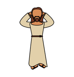 Jesus christ faith catholic vector