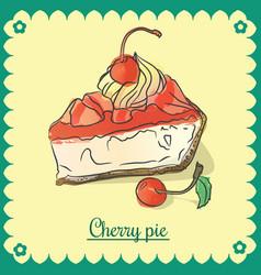cherry pie vector image