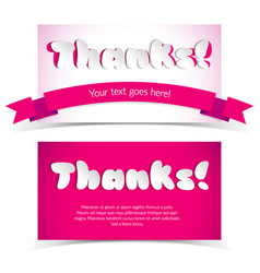 Greeting cards in paper style vector