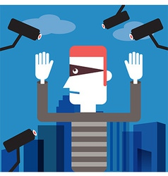 Spy camera cartoon vector