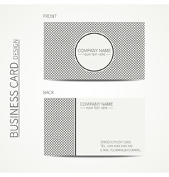 Vintage hipster striped simple monochrome business vector image